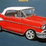 Painting of a 1957 Chevy