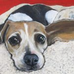 Pet portrait painting by Claire Dunaway