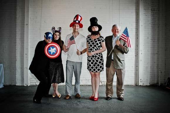 Americana The Beautiful Photo Booth Fun!