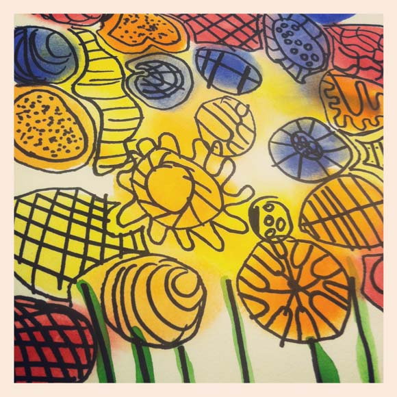 Peter Reynolds Spring Watercolor Flowers Art Project!