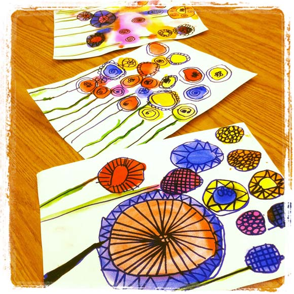 Peter Reynolds Watercolor Flowers | Claire Dunaway Studios