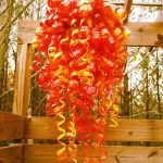 Hanging Chihuly art sculpture project